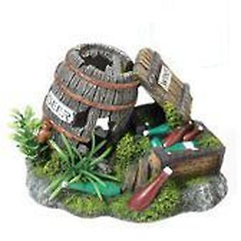 Classic For Pets Barrel/Bottles/Plant195mm (Fish , Decoration , Ornaments)