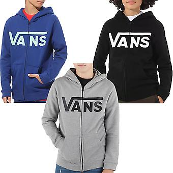 Vans Boys Classic Zip Up Hooded Jacket Hoodie Top