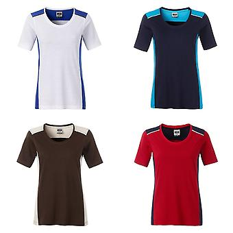 James and Nicholson Womens/Ladies Workwear 2 Level T-Shirt