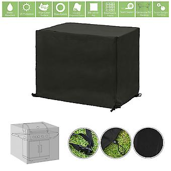 Zwarte Grote BBQ Outdoor Waterproof Garden Patio Barbecue Cover Rain Protector