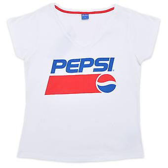 Pepsi women t-shirt short sleeve white