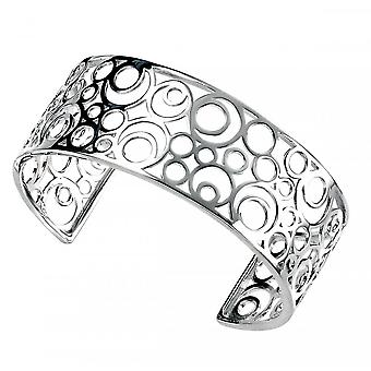 Joshua James Motive Silver Circles Bangle