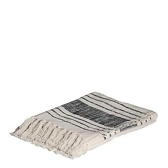 Ember Throw 125x150cm Natural/Black