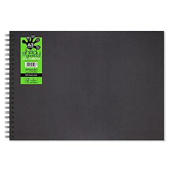 Artgecko Shady Gecko A3 peisaj negru carte de caiet de schițe