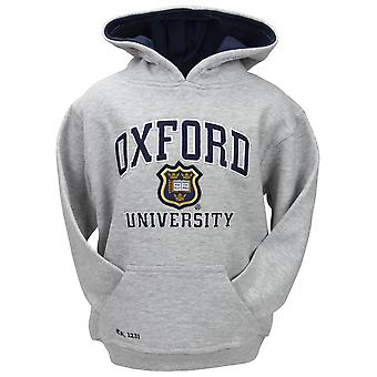 Ou129k kids licensed unisex oxford university™ hooded sweatshirt grey