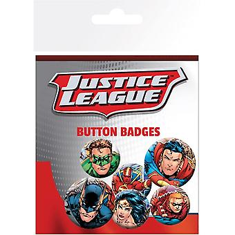 Justice League Group Pin Button Badges Set