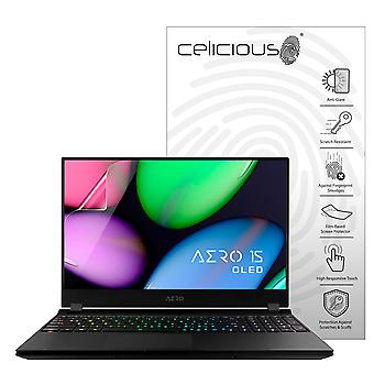 Celicious Matte Anti-Glare Screen Protector Film Compatible with Gigabyte Aero 15S OLED XB [Pack of 2]