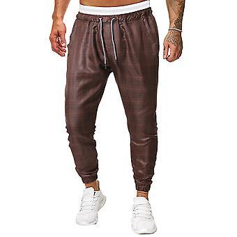 Allthemen Fashionable City Men-apos;s Plaid Casual Pantalon