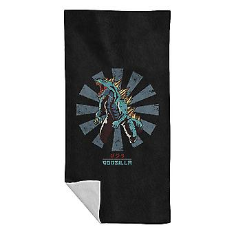 Godzilla Retro Japanese Beach Towel