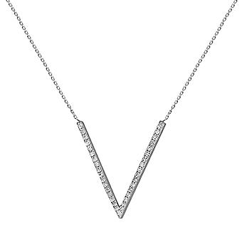 Necklace V 18K Gold and Diamonds