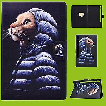 Für Samsung Galaxy Tab S6 Lite P610 P615 Motiv 50 Tablet Tasche Kunst Leder Hülle Etuis