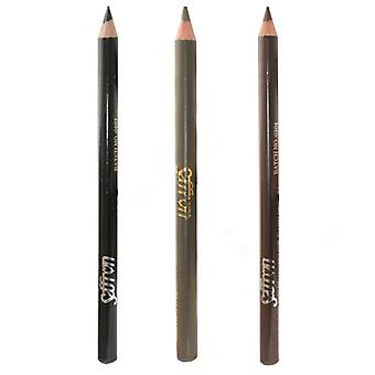 Saffron Waterproof Eyebrow Pencil, Black, Blonde Or Brown