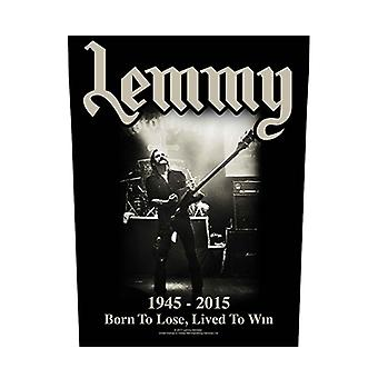 Motorhead Backpatch Lemmy Born to Lose Lived to Win Official Black 36cm x 29cm
