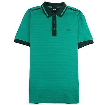 Hugo Boss Paddy 2 Camisa polo de ajuste regular con Jacquard Green