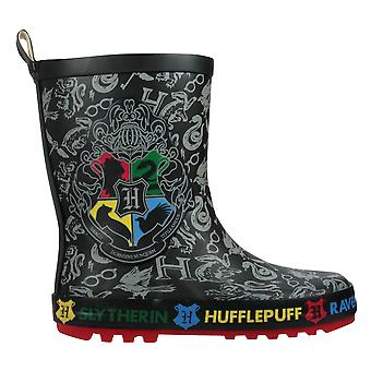 Harry Potter Jungen schwarz Hogwarts Wellington Stiefel Wellies UK Größen Kind 8 -3