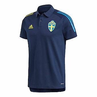 2020-2021 السويد بولو قميص (ليلة نيلي)
