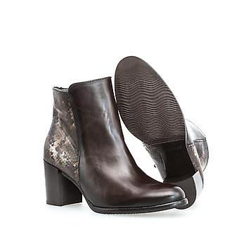 Gabor nappa snake espresso booties womens brown
