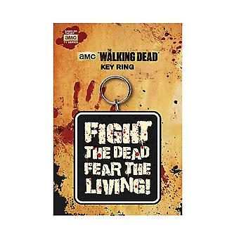 The Walking Dead Keyring Fight The Dead Fear the Living new Official AMC Black