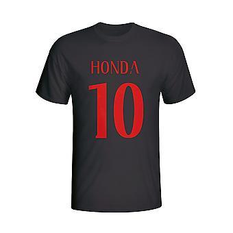 Keisuke Honda Ac Milan camiseta de héroe (negro)