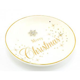 Mad Dots Merry Christmas Trinket Dish