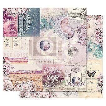 بريما تسويق القمر الطفل 12x12 بوصة أوراق الحب المجرة