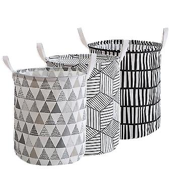 Waterproof Washable Laundry Hamper Dirty Cloth Basket with Printed Design Washing Bag for Bathroom