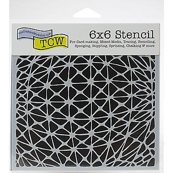 The Crafter's Workshop Geo Netting 6x6 Inch Stencil