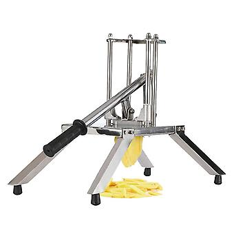 SOGA Commercial Potato French Fry Fruit Vegetable Cutter Stainless Steel 3 Blades