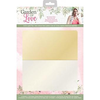 Crafter's Companion Garden of Love A4 Vellum Pack