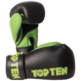 Top Ten XLP boxe gants noir/vert