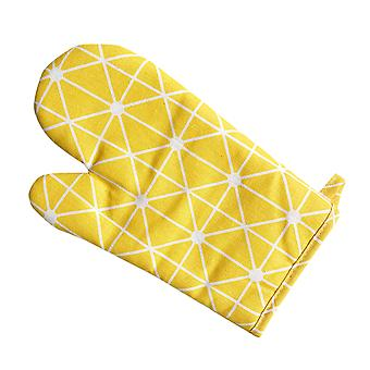 YANGFAN Nordic Style Non-slip Cotton Insulation Oven Gloves