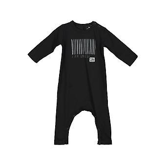 Vauvan haalari pitkät hihat ilman jalkaa - Musta Viivakoodi, 68 cl