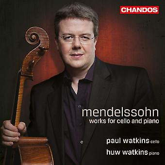 F. Mendelssohn - Mendelssohn: Œuvres pour violoncelle et Piano [CD] USA import