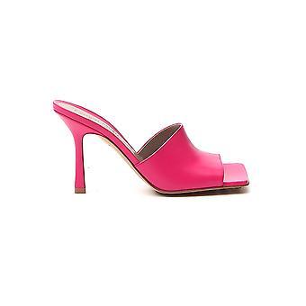 Bottega Veneta 610538vbsf05521 Dames's Roze Lederen Sandalen