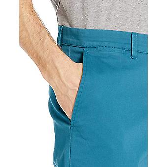 Goodthreads Men's Slim-Fit Washed Stretch Chino Pant, Teal 32W x 28L