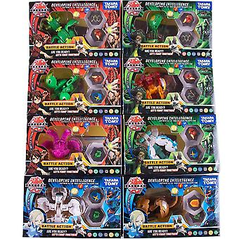Tomy Bakugan Value Set- Children's Toy Birthday Gift Model Contains 8 Attribute Cards And 16 Magnetic Pads