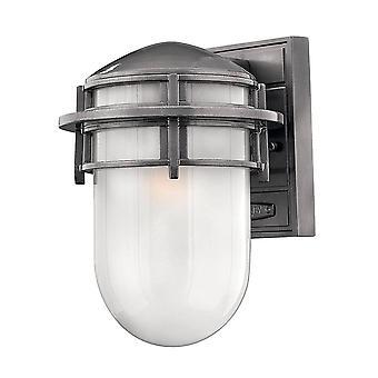 1 lichte kleine buitenmuur lantaarn hematiet IP44, E27