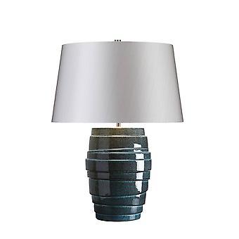 1 Lampe de table légère Glaçure bleue, E27
