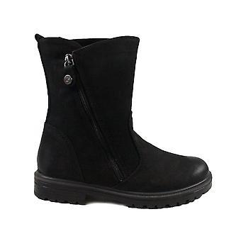 Primigi Dianne 6366100 Black Nubuck Leather Girls Mid Calf Boots