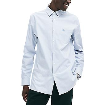 Lacoste Men's Striped Cotton Poplin Shirt Regular Fit