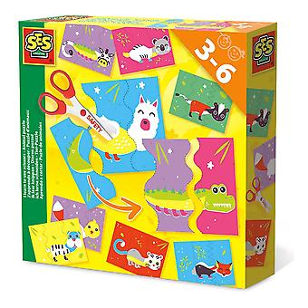 SES Creative Children's I Learn to Use Scissors Animal Puzzle Set (14647)