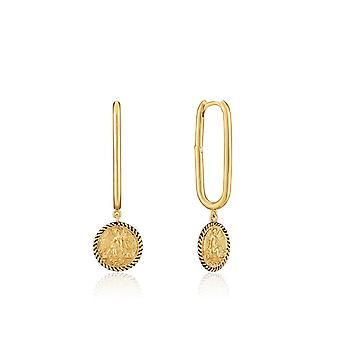 Ania Haie Altın Kazıcı Parlak Altın Kanatlı Tanrıça Çember Küpe E020-01G