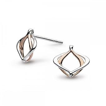 Kit Heath entwine Alicia kleine Rose Gold Stud plaat oorbellen 40019RG021