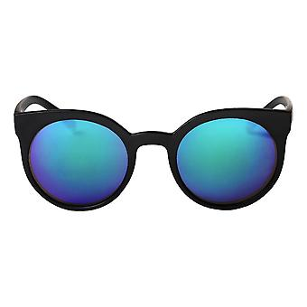 Cheapo Padang Sunglasses - Black / Blue Mirror