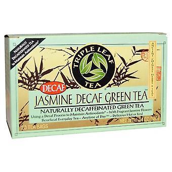 三叶茶茉莉花脱咖啡因绿茶, 20 袋