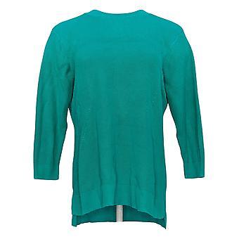 Isaac Mizrahi Live! Women's Sweater 3/4 Sleeve Green A366530