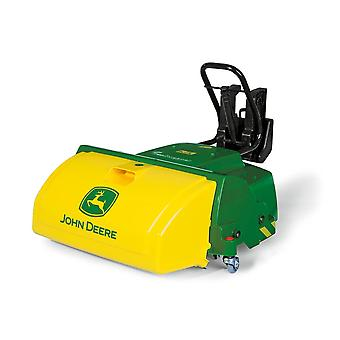 Rolly toys john deere pedal tractor mounted road sweeper for 3 - 10 years old-