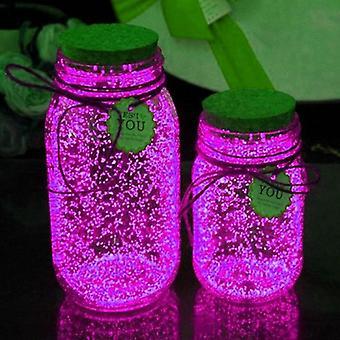 Diy Starry -toivepullojauhe syttyy, säteilytön fluoresoiva valohehku