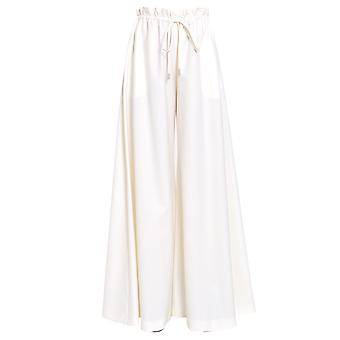 Sara Battaglia Sb3006302102 Women's White Wool Pants