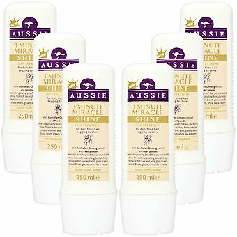 Aussie 3 Minute Miracle Shine Super Boost Hair Treatment 6 Pack - 250ml